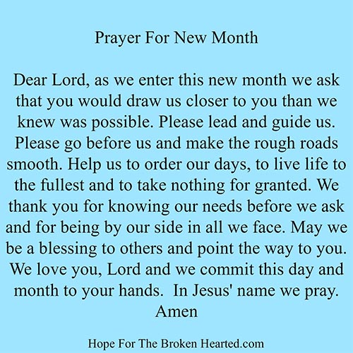 Prayer of the Month